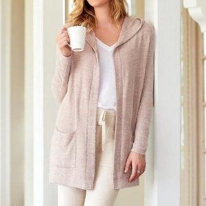 Barefoot Dreams Cozychic Lite Hooded Open Cardigan
